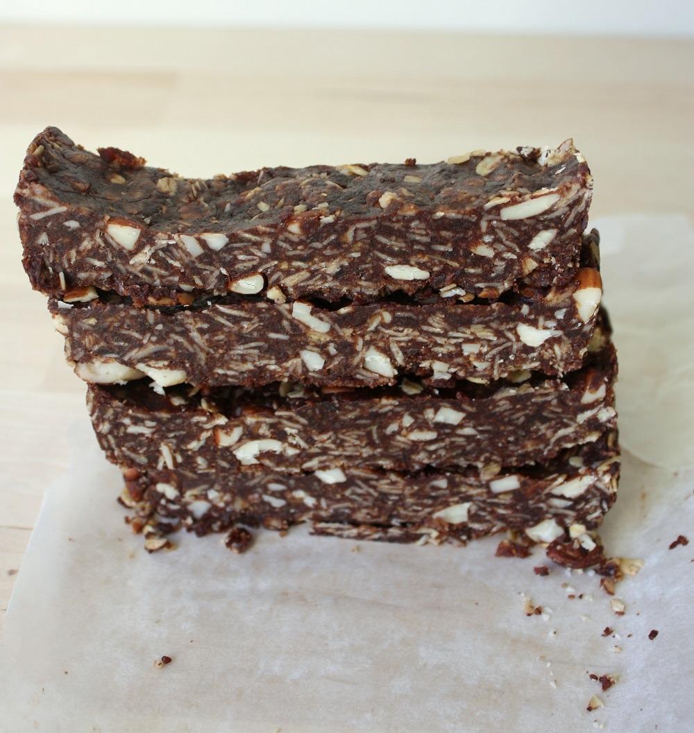 Healthy Chocolate No Bake Brownies