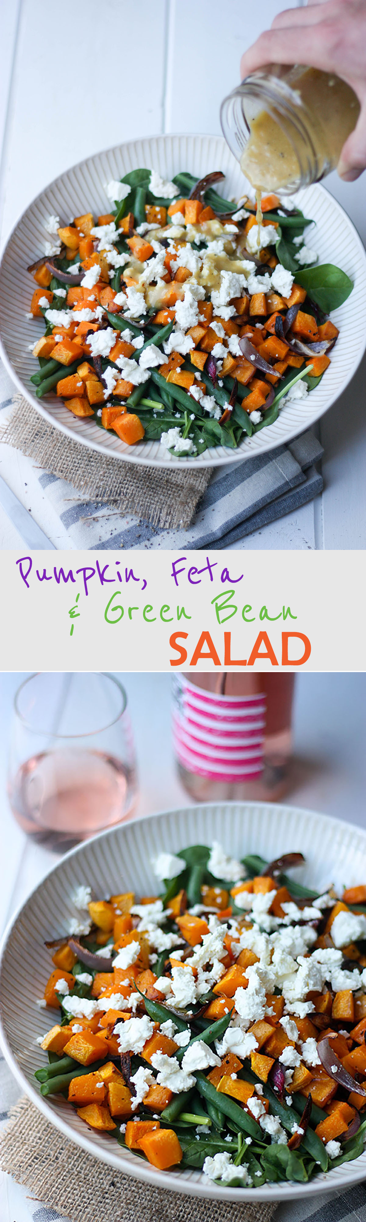 Pumpkin, Feta & Green Bean Salad - perfect for entertaining find the recipes at www.thehomecookskitchen.com
