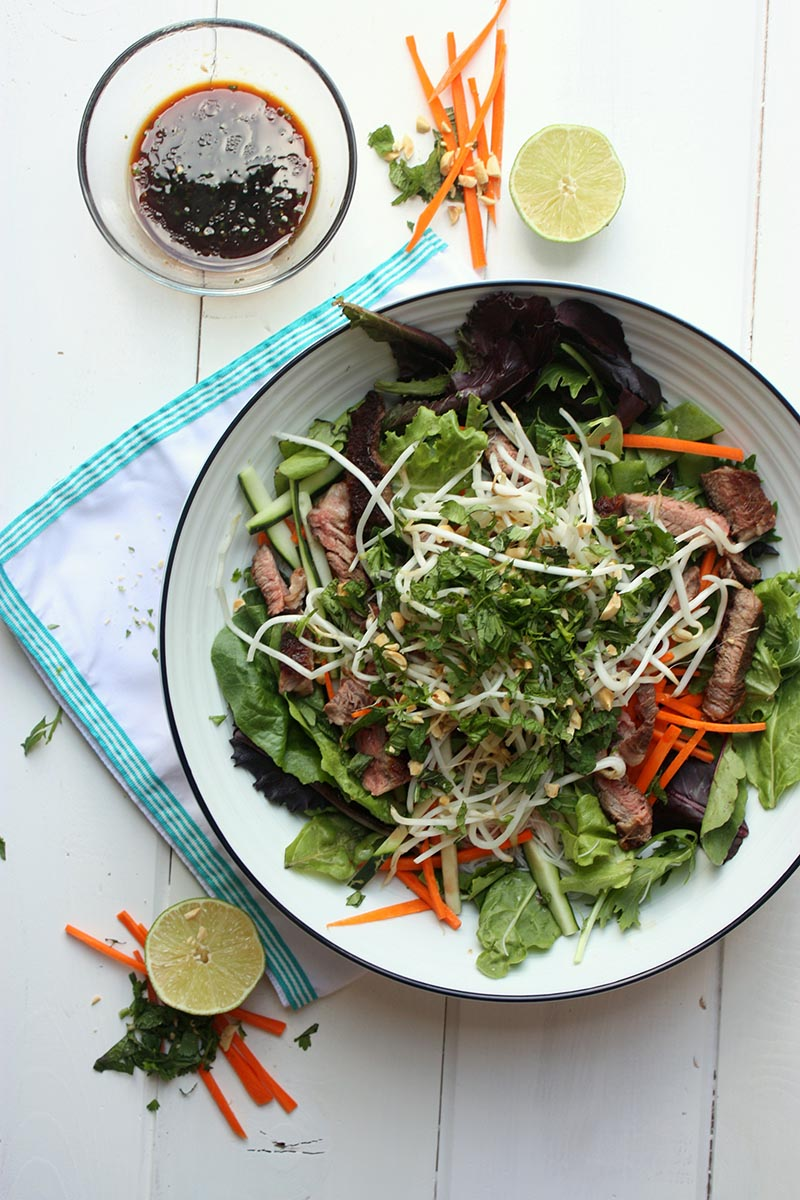 vietnamese beef salad www.thehomecookskitchen.com healthy, fresh , delicious and easy to make! perfect summer recipe