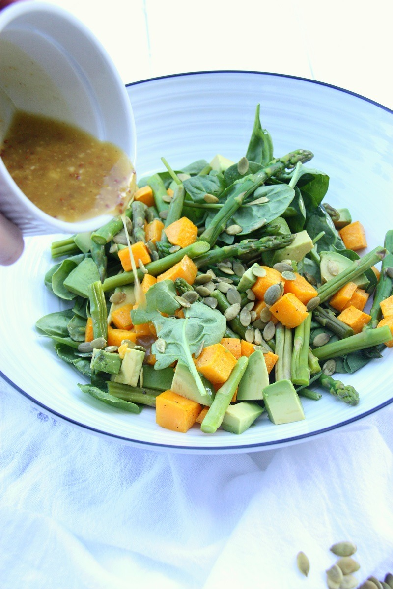Pumpkin, Avocado and Spinach Salad