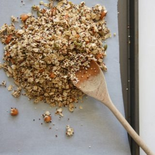 salty & sweet quinoa granola