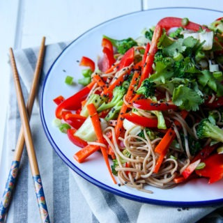 Asian Style Soba Noodle Salad