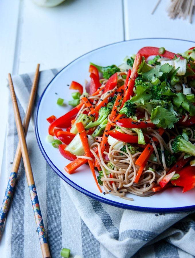 Soba Noodle Salad www.thehomecookskitchen.com