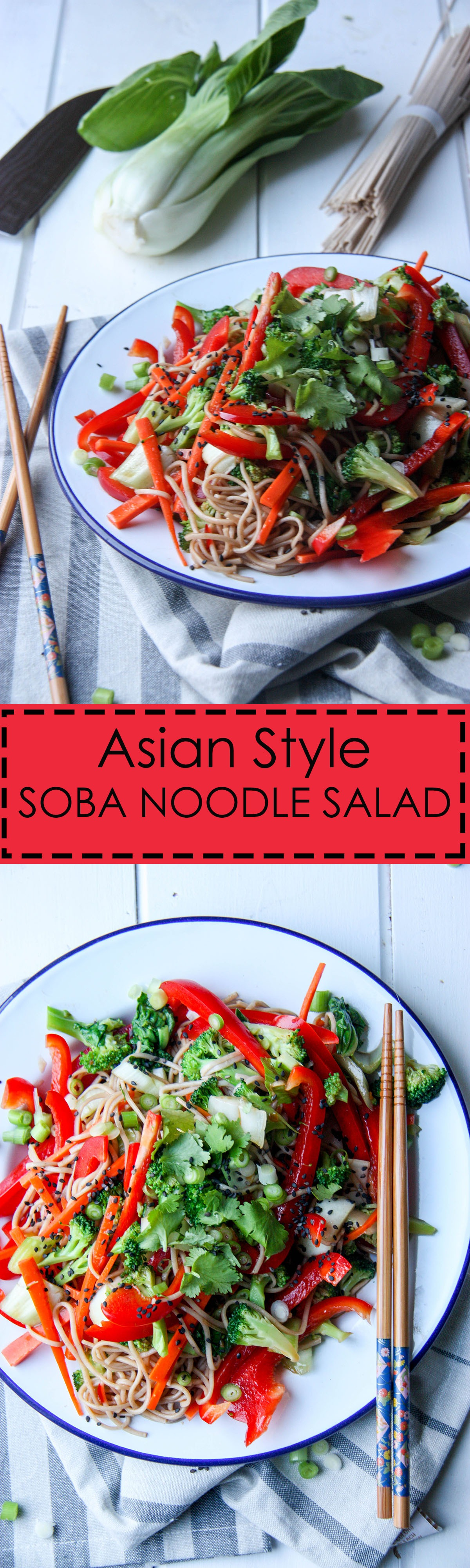 Soba Noodle Salad www.thehomecookskitchen.com Perfect for when you need a healthy, fresh and delicious meal