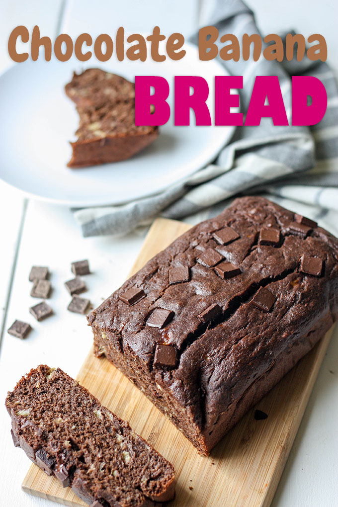Chocolate Banana Bread - healthier, easy to make, moist and delicious www.thehomecookskitchen.com