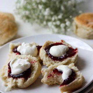 Lemonade Scones - 3 ingredients, light, fluffy and easy to make