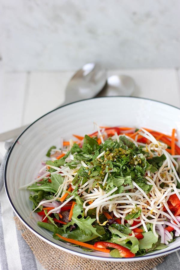 Thai Green Salad - a perfect salad for summer, light fresh and crisp