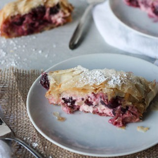 Cheese and Cherry Strudel
