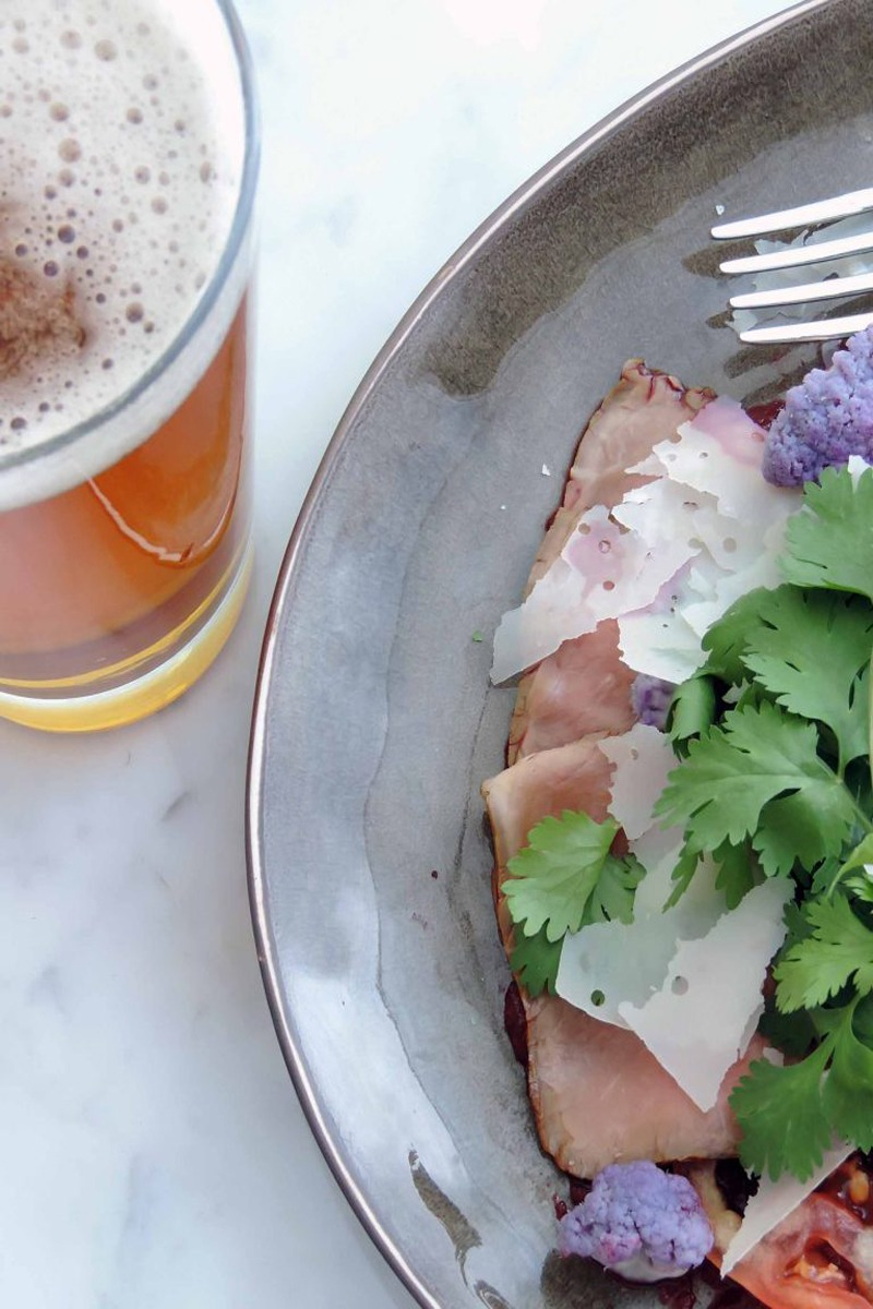 Roast Beef with Beet Puree & Purple Cauliflower