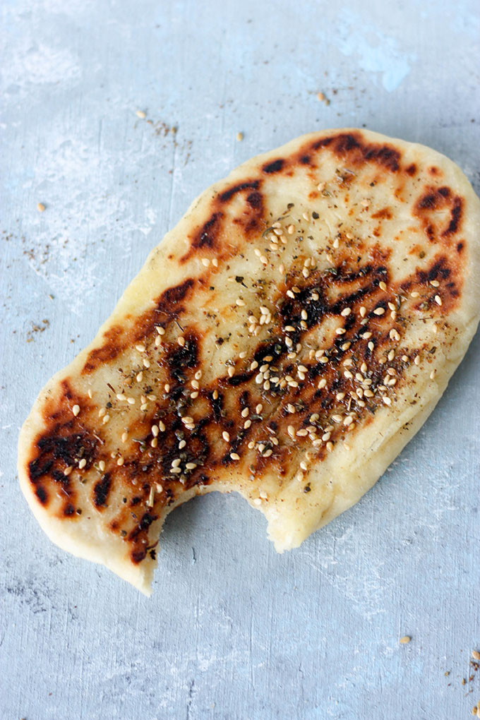 Za'atar Naan Bread www.thehomecookskitchen.com - light and fluffy bread, perfect for curries