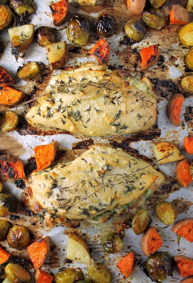 20 fall recipes for a dinner party Sheet-Pan-Aerial-Horizontal-Cooked-e1487879662510