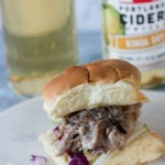 Apple Cider Pulled Pork Sliders www.thehomecookskitchen.com - a fantastic recipe for your next game day party or party!