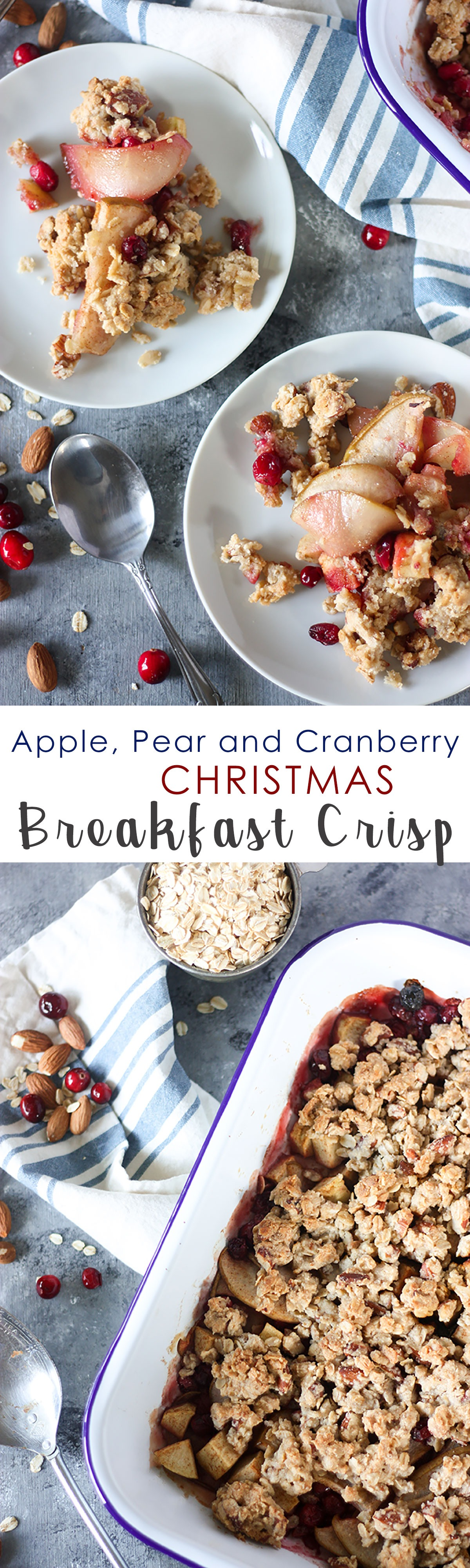 Apple, Pear and Cranberry Breakfast Crisp www.thehomecookskitchen.com