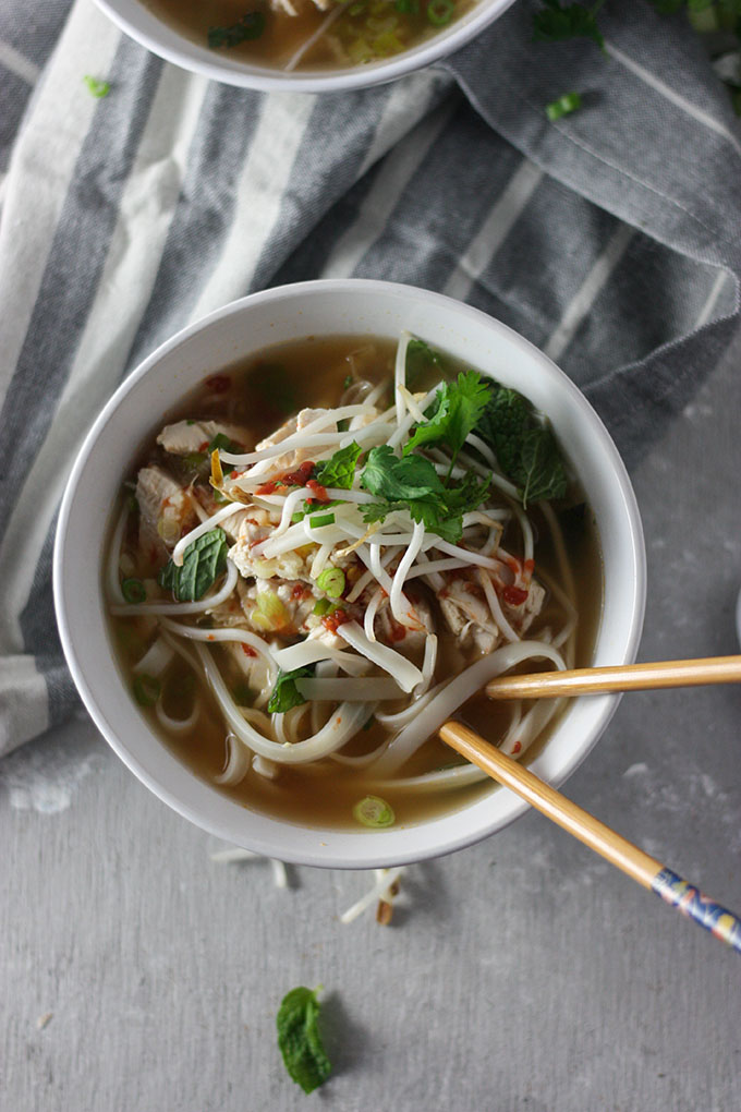 easy chicken pho www.thehomecookskitchen.com perfect for an easy #weeknightdinner