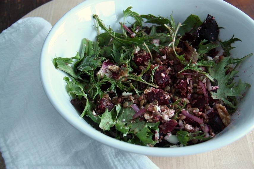 Beetroot Lentil Salad