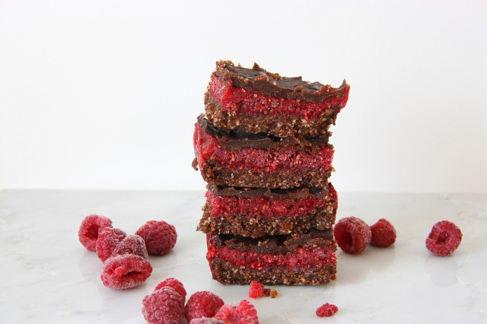 raspberry chocolate brownie