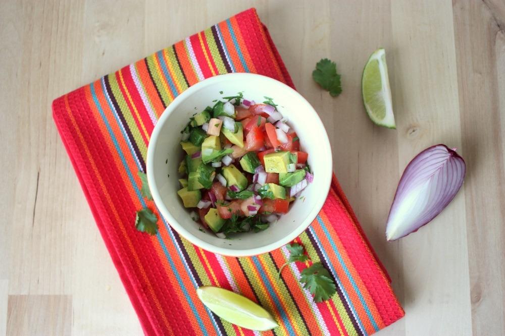 chunky tomato avocado salsa