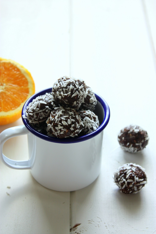 orange coconut bliss balls