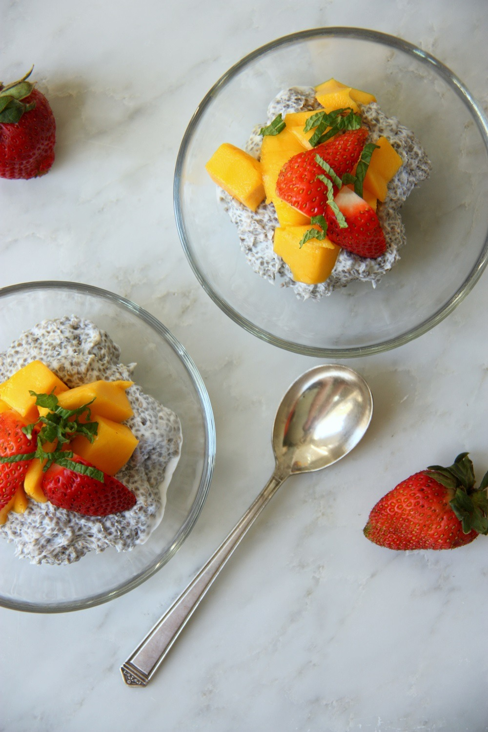 tropical coconut chia pudding