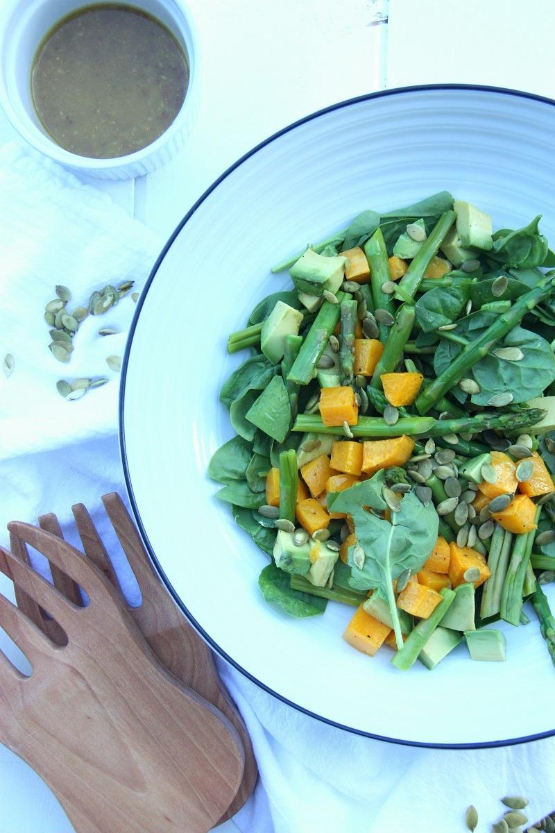Pumpkin, Avocado and Spinach Salad