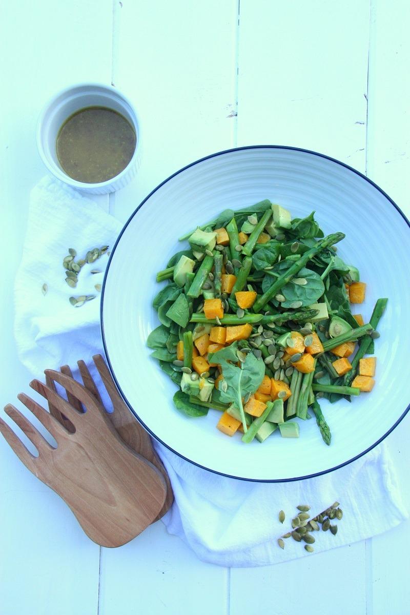 Pumpkin, Avocado and Spinach Salad4