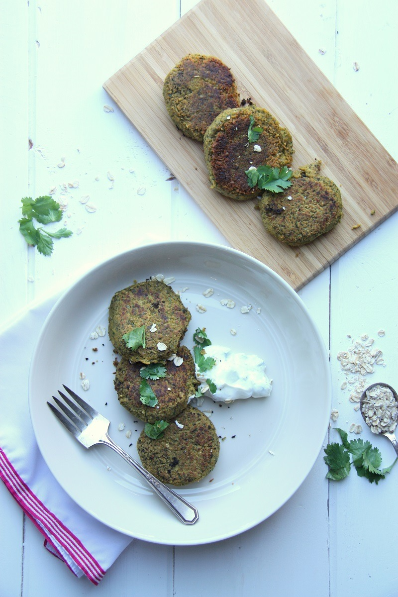 spinach chickpea falafel