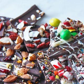 chocolate bark four ways_healthypears-com_christmas-special_dessert