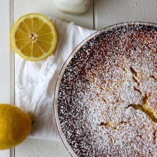 One Bowl Lemon Coconut Tart