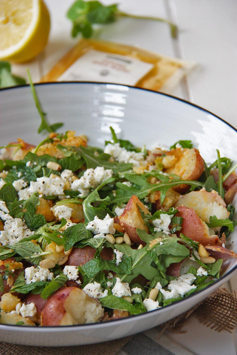 North African Inspired Spicy Potato Salad www.thehomecookskitchen.com fresh, light, flavousome and oh so easy! a new spin on an old favourite!