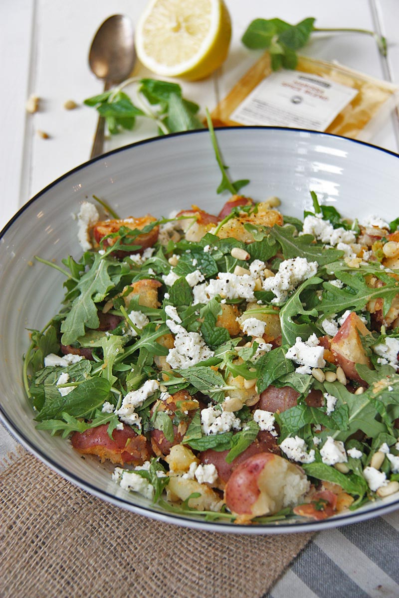 North African Inspired Spicy Potato Salad www.thehomecookskitchen.com fresh, light, flavousome and oh so easy! jazz up your regular old potato salad!