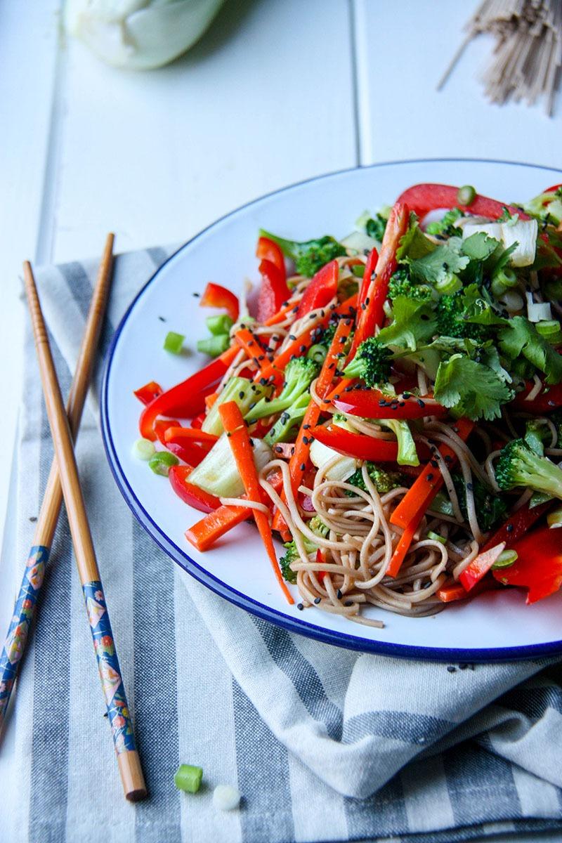 Soba Noodle Salad www.thehomecookskitchen.com