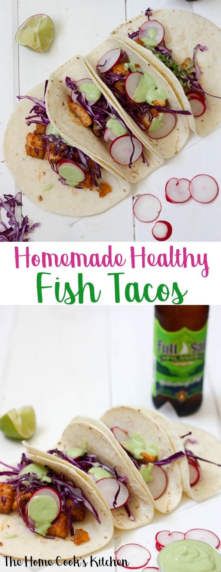 These healthy fish tacos are light, fresh and full of flavour. Made from scratch with homemade ingredients, these are great for weekend entertaining! #tacos #healthytacos #fishtactos #cincodemayo #homemadetacos
