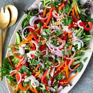 thai salad on large platter
