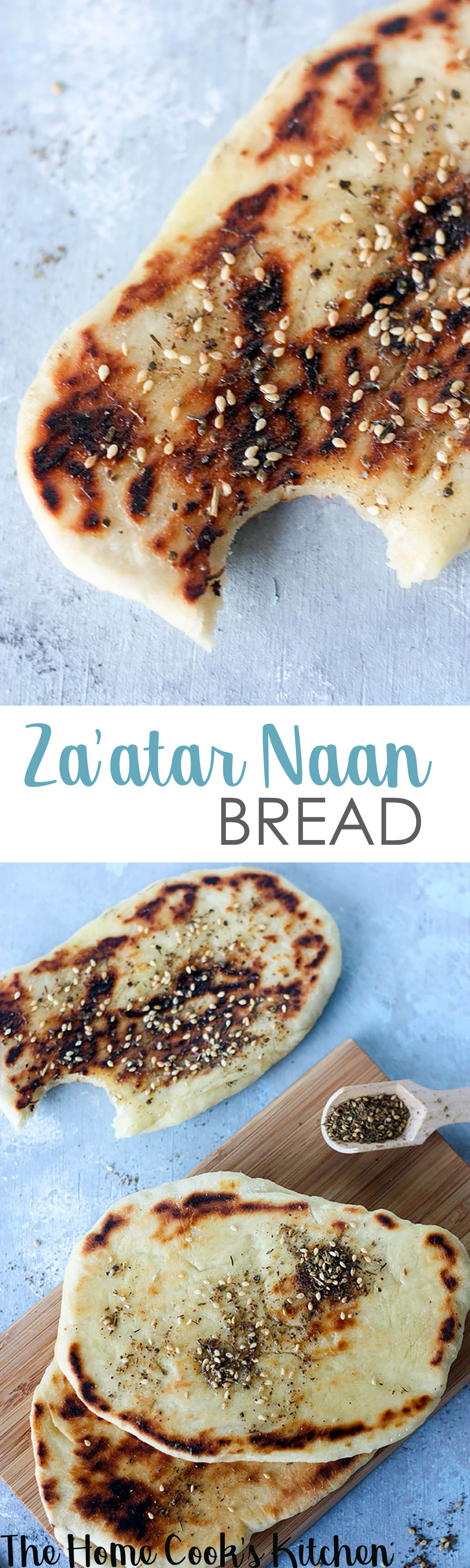 www.thehomecookskitchen.com light and fluffy za'atar naan bread pin for later!
