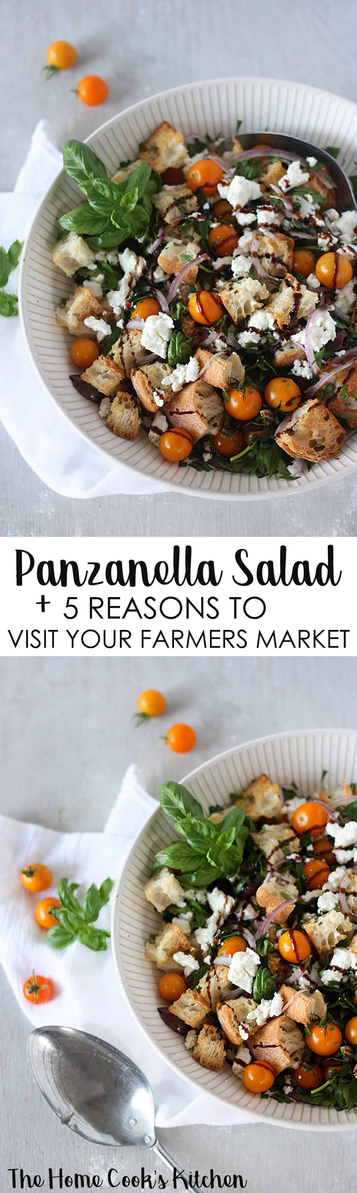 Panzanella Salad - simple, fresh and delicious, made with local farmers market produce www.thehomecookskitchen.com