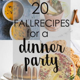 fall recipe ideas collage