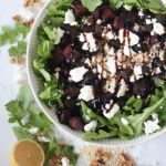 beetroot goat cheese salad www.thehomecookskitchen.com an easy and flavourful winter salad