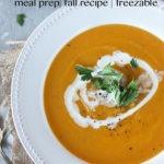 Pinterest graphic for pumpkin sweet potato soup