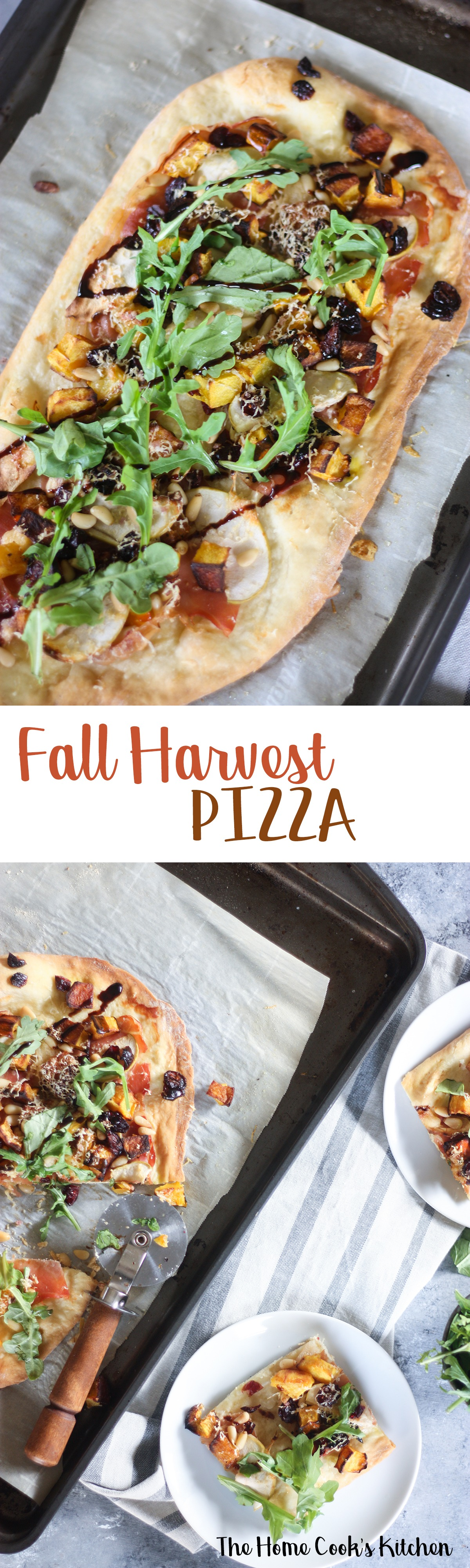 Pin for later! Fall harvest pizza www.thehomecookskitchen.com