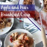pinterest graphic of apple and pear crisp