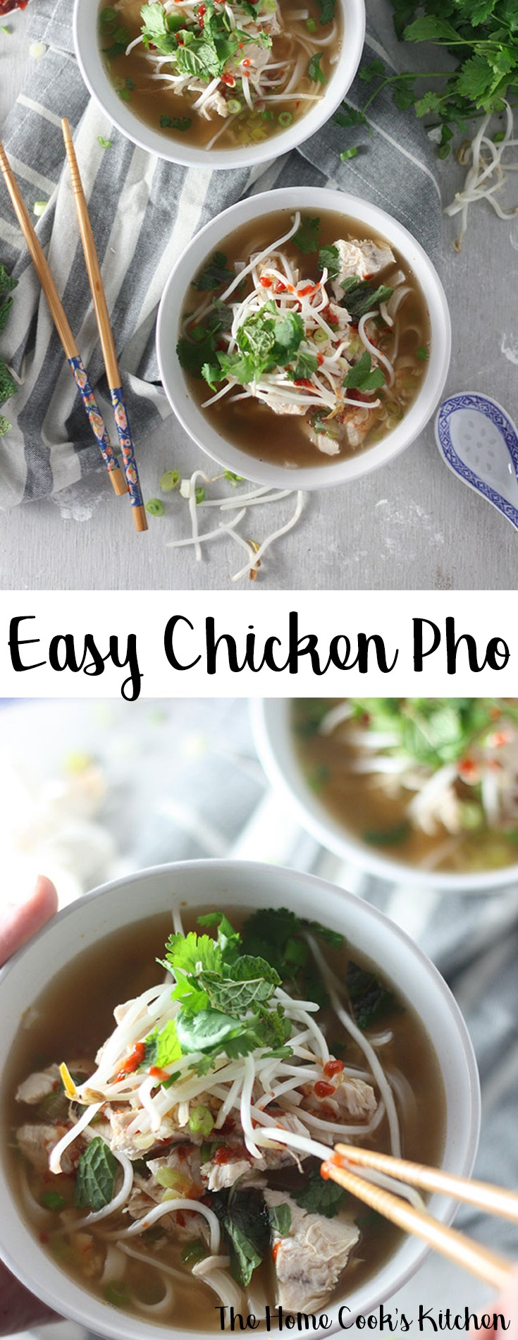 This easy chicken pho recipe really packs a punch with a hint of spice mixed in with some deliciously fresh flavours. A perfect hearty, warming and filling soup. #chickenpho #pho #soup