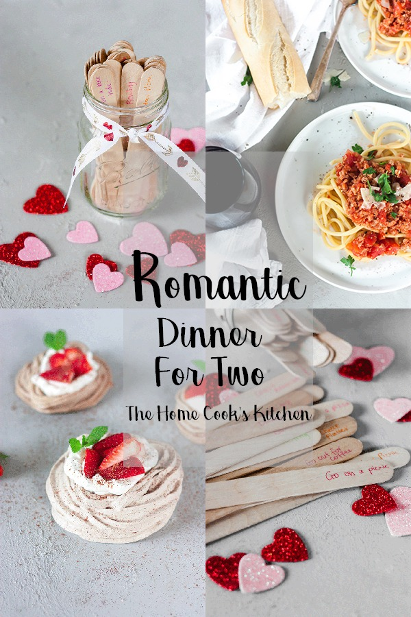Looking for a way to spoil your bestie or SO? This romantic dinner date for two has you covered. An easy bucatini all'Amatriciana for main, and decadent chocolate meringue for dessert! This dinner date is mouthwatering, yet easy to bring together #dinnerdate #romanticdinnerfortwo #chocolatemeringue #amatriciana