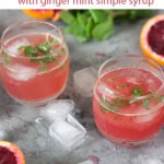 blood orange cocktails pin