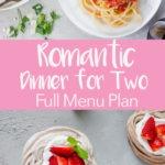 romantic dinner for two pinterest graphic