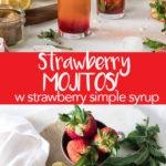 strawberry mojitos long pin