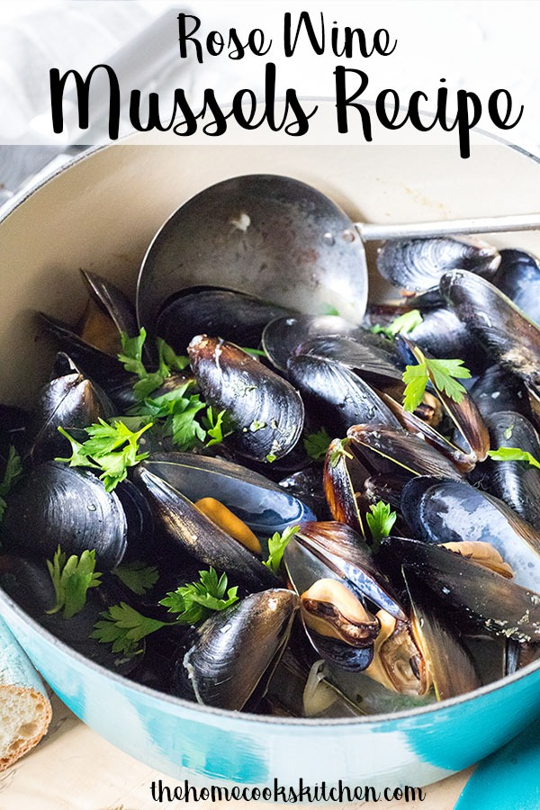 Fresh, light and perfect for summer, these rosé wine mussels are a spin on a classic dish. Perfectly cooked mussels in a beautifully balanced light rosé broth, this dish is great for summer entertaining. #mussels #winemussels #rosewine #summerentertaining #summerrecipe #backyardparty #summerparty