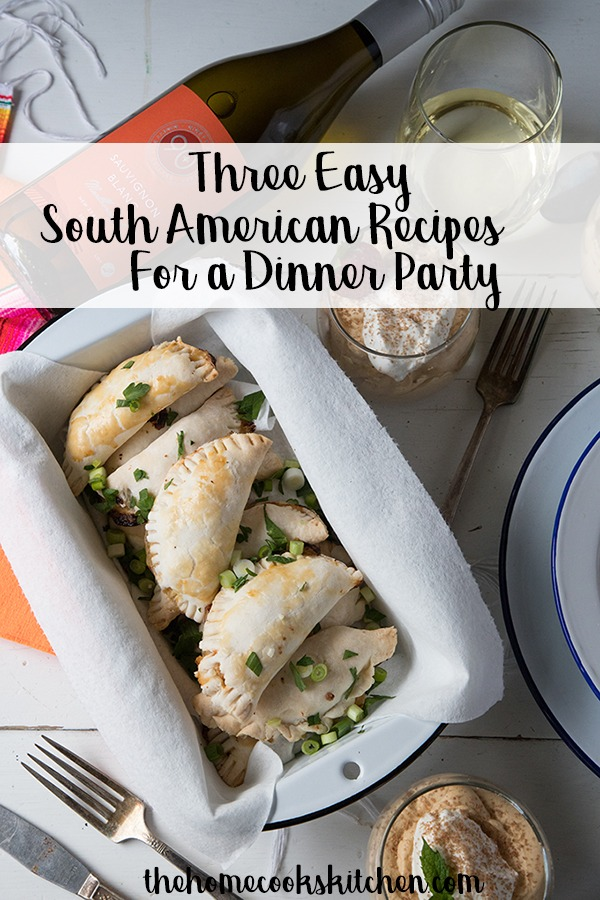 These three homemade South American recipes with wine pairings are so easy and approachable. Great for themed dinner parties with friends! Shrimp empanadas, steak with chimichurri and dulce de leche mousse to finish off! Homemade, hearty and great for weekend parties! #empanadas #chimichurri #steakchimichurri #ducledeleche #southamerican #southamericanrecipes #southamericanfeast