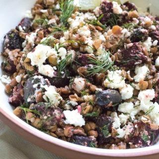 Beetroot Feta Lentil Salad