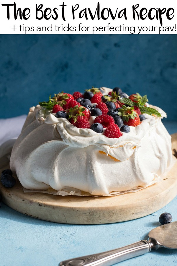 best pavlova recipe pinterest graphic