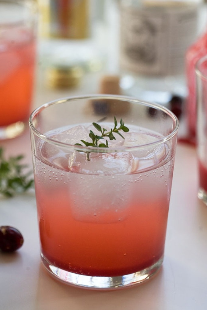 15 fall cocktails - cranberry cocktail in clear class